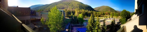 A Pano from my room at the Keystone Lodge first morning of #TBEX