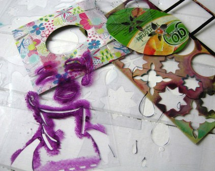 DIY Stencils from Recycled Garbage Video Tutorial. I've mentioned Jennibellie Studio before as being one of my favorite recycled altered art journal site. Her video tutorials are always really informative and never boring. Video tutorial at Jennibellie Studio here. *My favorite video tutorials I've posted from Jennibellie Studio:  DIY Recycled Cardboard Stamps Using String Tutorial here. DIY 100% Recycled Art Journal from Cereal Boxes here. DIY Dos-a-Dos Journal and Book Tutorial (basically three books back to back) here.