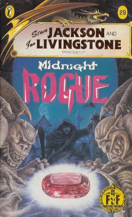 Fighting Fantasy 29 - Midnight Rogue. John Sibbick, 1987.