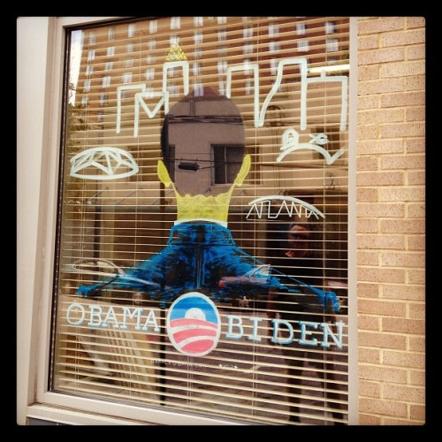 rebeccaburns:  Windows of #Obama2012 HQ on Auburn Ave. #atl (Taken with Instagram)