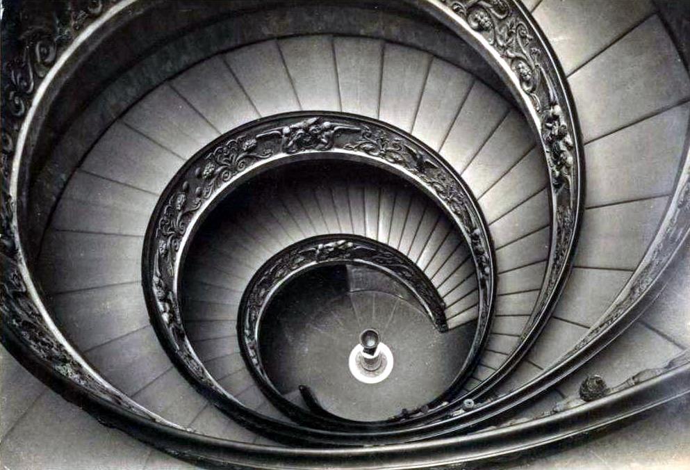The helicoidal staircase inside the sculptures museum, Vatican City