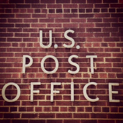 Post Office Letters. #typography #type #letters #fonts #signage #design #graphicdesign (Taken with Instagram)