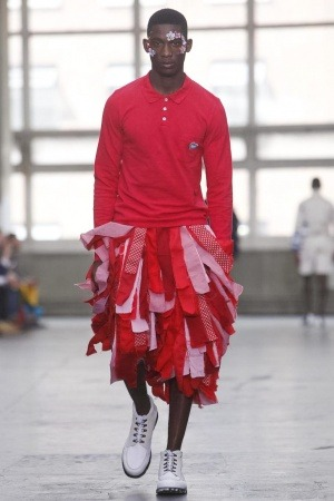 Harry Uzoka at Christopher Shannon Menswear - London Collections S/S 2013
