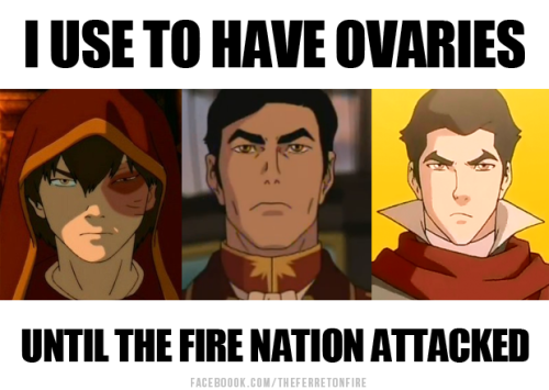 The Fire Nation is full of hotties. No pun intended.