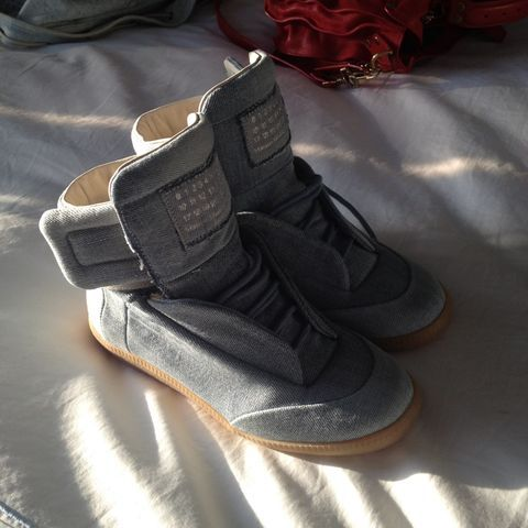 Margiela kicks that think their Air Jordans.  (Taken with Pose)