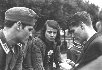 "greatestgeneration:  fyeah-history:  Members of the White Rose, Munich 1942. From left: Hans Scholl, his sister Sophie Scholl, and Christoph ProbstThe White Rose (German: die Weiße Rose) was a non-violent, intellectual resistance group in Nazi Germany, consisting of students from the University of Munich and their philosophy professor. The group became known for an anonymous leaflet and graffiti campaign, lasting from June 1942 until February 1943, that called for active opposition to dictator Adolf Hitler's regime.  ""Many, maybe even most, of you reading this leaflet are not sure how to resist. You don't see any opportunities. We'd like to show you that anyone is in a position to help bring this system down. What is needed is the coordinated vigorous activity of many dedicated people…"" See our posts on German Resistance."