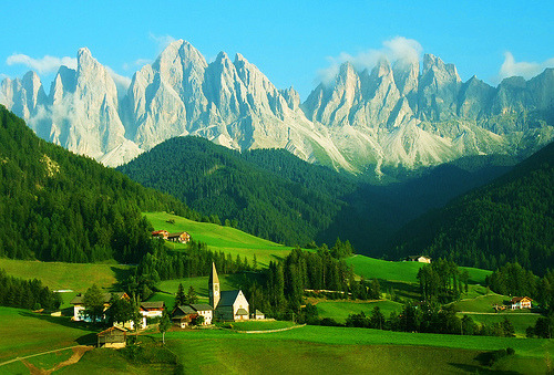 bluepueblo:  The Dolomites, Santa Maddalena, Italy photo via aethere