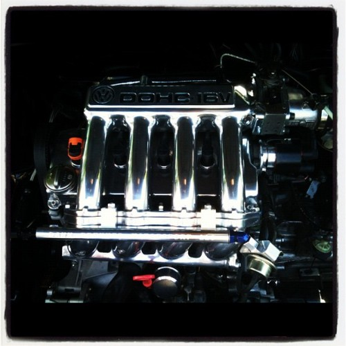 The gorgeous engine in my friend Brandon's #vw #scirocco (Taken with Instagram)