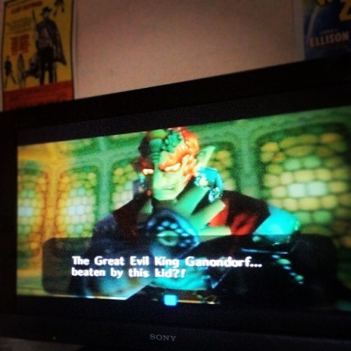 @insatanwetrust, was a good day on the N64. #zelda #win (Taken with Instagram)
