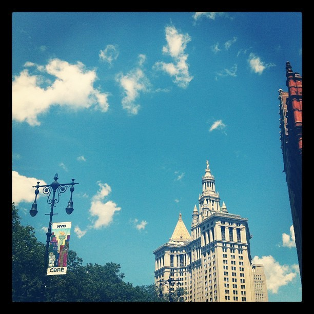 sunny skies in new york! (Taken with Instagram)