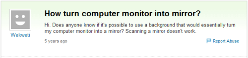 Scanning a mirror doesn't work Scanning a mirror doesn't work Scanning a mirror doesn't work Scanning a mirror doesn't work