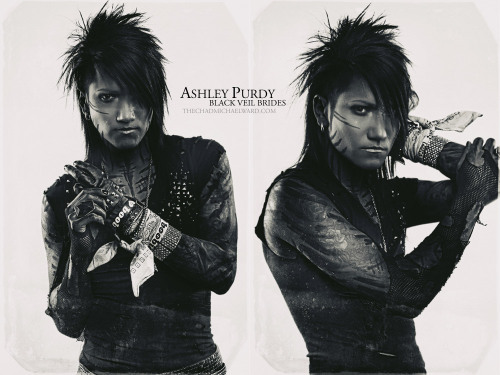 Ashley Purdy of Black Veil Brides. —- Want to order a custom print of this image?  Contact me at chadmichaelward@gmail.com for sizes and prices. Additionally, if you like the images I'm posting, please consider re-blogging them to your own Tumblr (with this message/credit intact).   All images ©2012 Chad Michael Ward | www.digitalapocalypse.com
