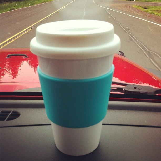 Blueberry coffee for today's road trip. (Taken with Instagram)