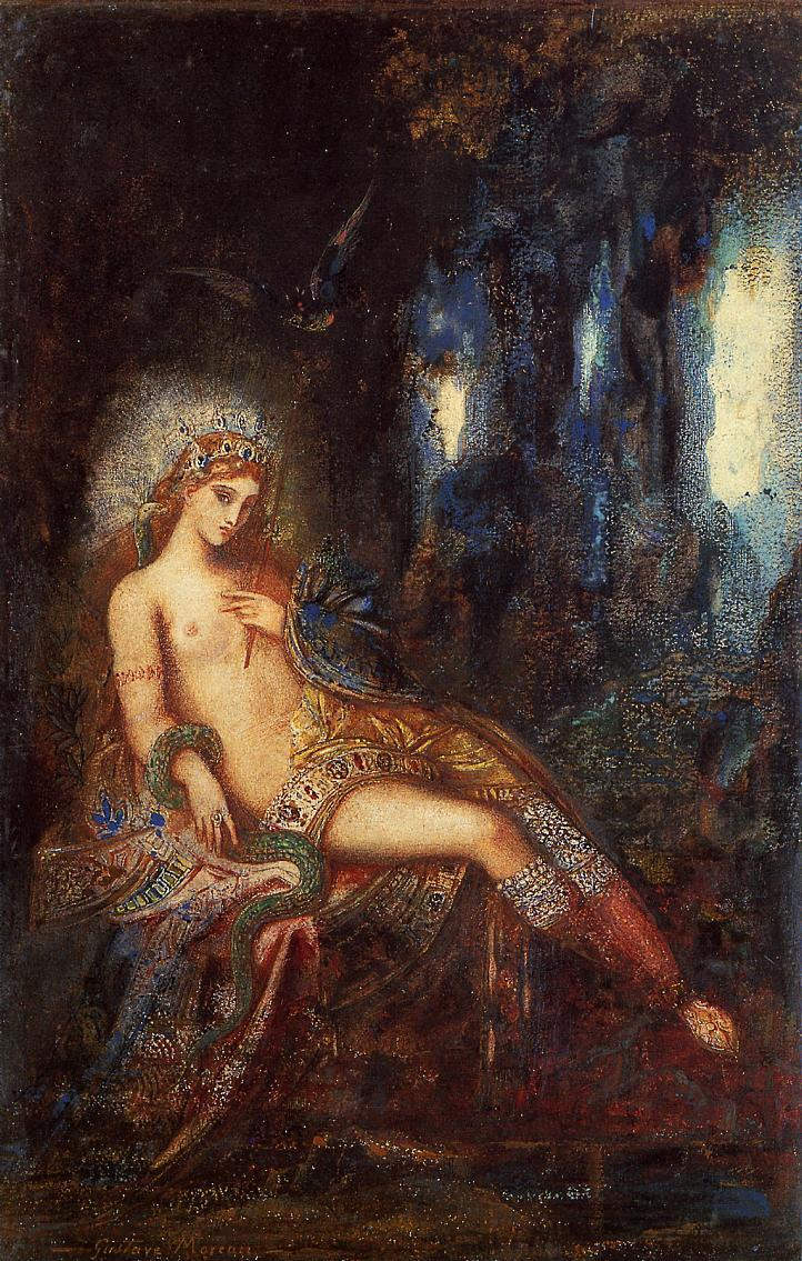 23silence:   Gustave Moreau - Goddess on the Rocks, c. 1890