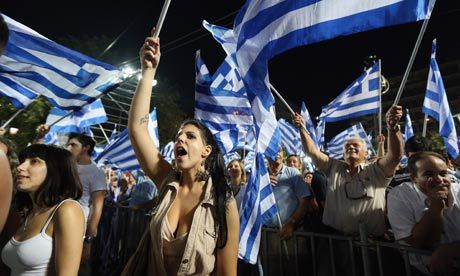 (via Greece prepares for election: 'we are going to the wall … things must change' | World news | The Observer)