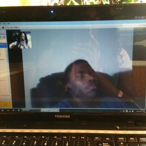 Skype w/ My Baby I miss him. 💙 (Taken with Instagram)