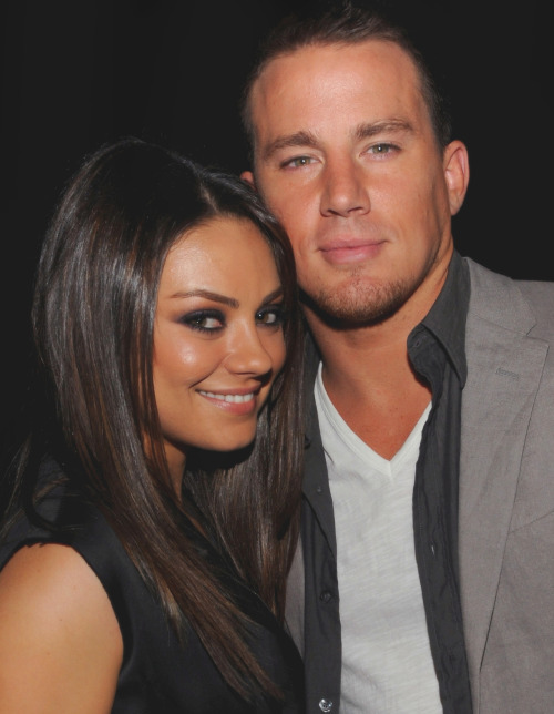 missdontcare-x: Mila Kunis with Channing Tatum. ASDFGHJKLThey need to do a movie together!
