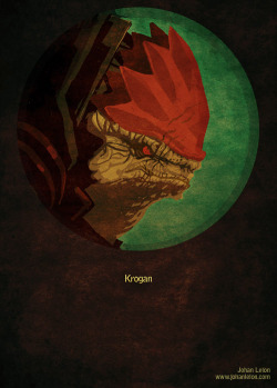 Mass Effect Poster: Wrex by ~JohanLeion