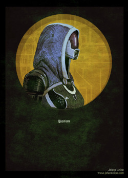 Mass Effect Poster: Quarian by ~JohanLeion