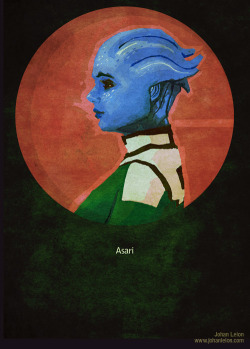 Mass Effect Poster: Liara by ~JohanLeion