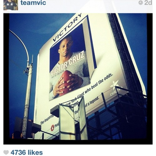 Look at my motherfucking nigga @teamvic — this shit right here…. #inspirational — no other words needed.  Proud of you bro.  (Taken with Instagram at NYC)