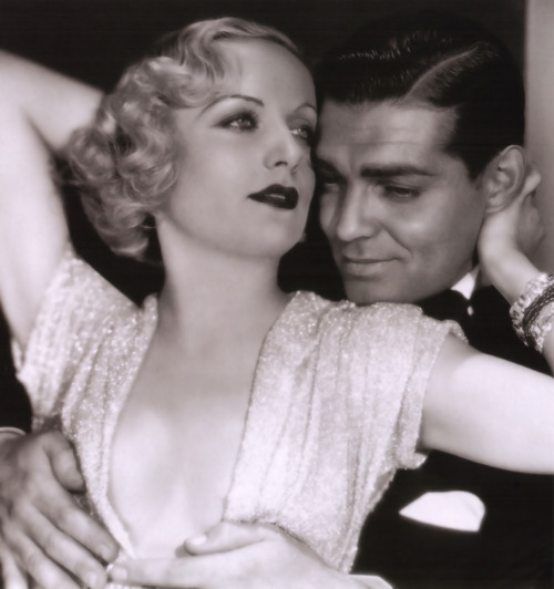 vintalgia:  Carole Lombard and Clark Gable in a publicity still for No Man of Her Own, 1932