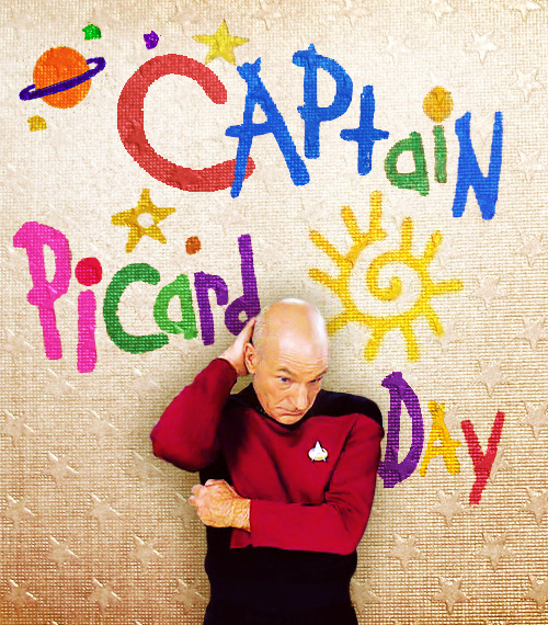 doctorcrusher:  Captain Picard Day is one of the children's favorite school activities. They look forward to it all year. Why does it have to be me?