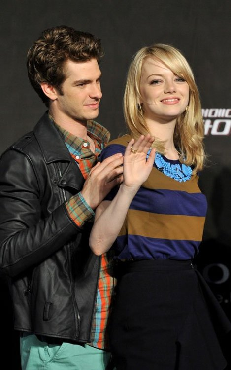 Emma Stone With Andrew Garfield