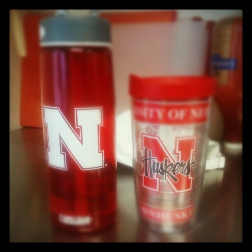 #nebraska #huskers #twins #cup #water #tea (Taken with Instagram)