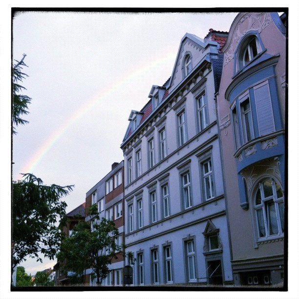 Three consecutive rainy days can also be beautiful #awesomized #muenster #rainbow  (Taken with Instagram at Rewe)