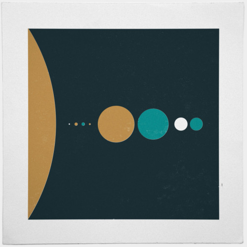 geometrydaily:  #170 The solar system (sizes) – A new minimal geometric composition each day