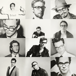All my favorite men wearing glasses. Today will be a good day.