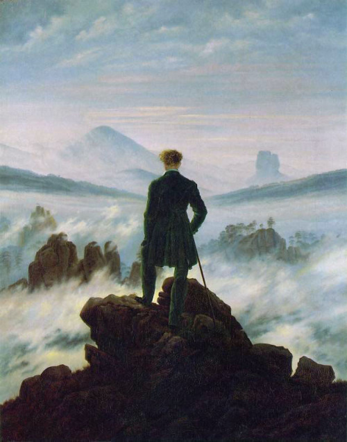 ryandonato:  Wanderer above the Sea of Fog, Caspar David Friedrich