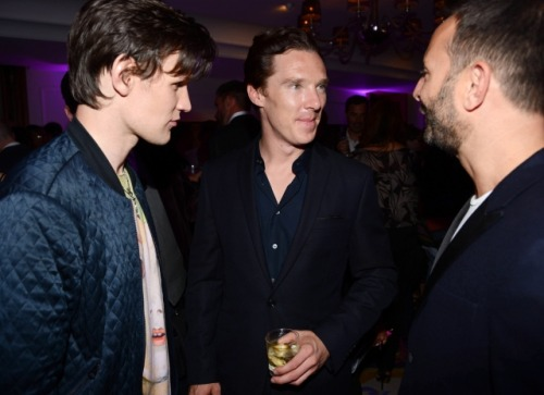clock-watcher:  Matt Smith, Benedict Cumberbatch, & Jeremy Langmead - June 15, 2012.    high res see here