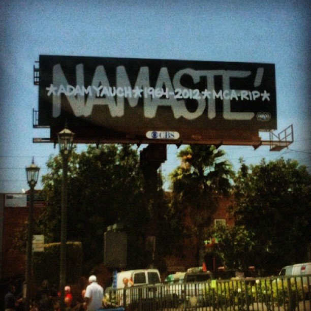 Adam Yauch tribute on Santa Monica and Vine #ripmca (Taken with Instagram at Vine Santa Moncia)