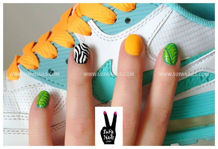 Jungle Boogie Summer Nails www.supanails.com/shop
