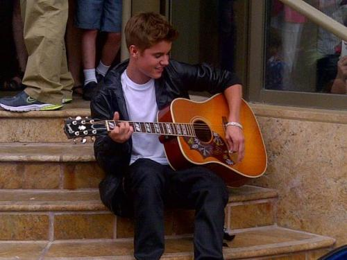Justin on theon the steps of the Avon Theatre!