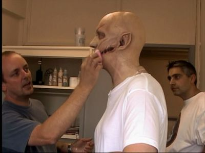 David Thewlis in the mask for his Werewolf transformation