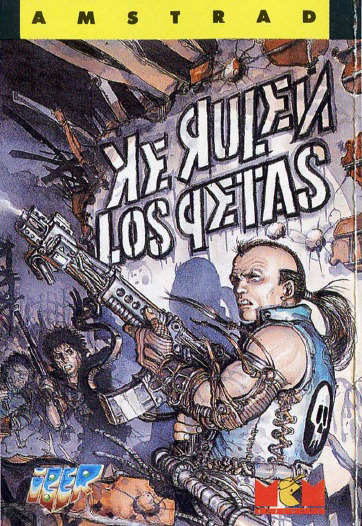 Ke Rulen Los Qetas for the Amstrad CPC. Predictably lovely art by Juan Giménez. This is as good a scan as you're gonna get, but I'd like to be proven wrong.