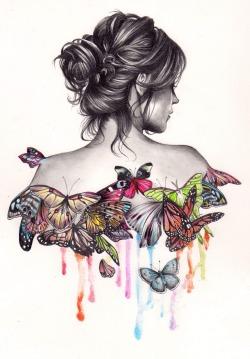 Sketch butterflies again