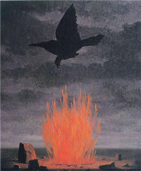 umdesassossego:  The fanatics, René Magritte (1955)