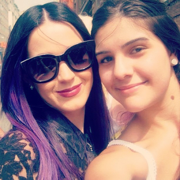 Ahhhhhhhhhhh met the AMAZING & GORGEOUS @katyperry😍❤So sweet!!! #newbestie #whatismylife #MMVAS  (Taken with Instagram)