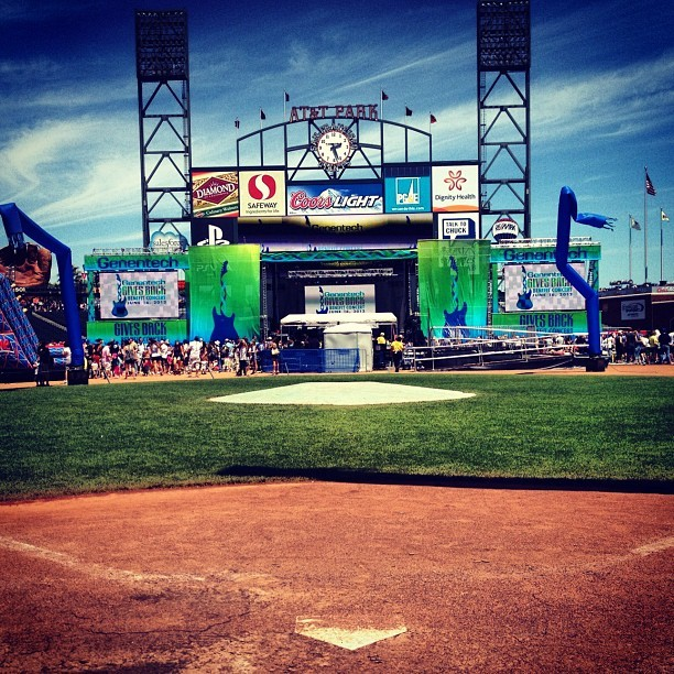 Home plate at AT&T Park. (Taken with Instagram at Genentech Gives Back Concert)