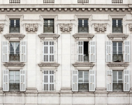 """Les Fenêtres"" (buy) photographer: Irene Suchocki  Rows of windows in Nice, on the Cote D'Azur."