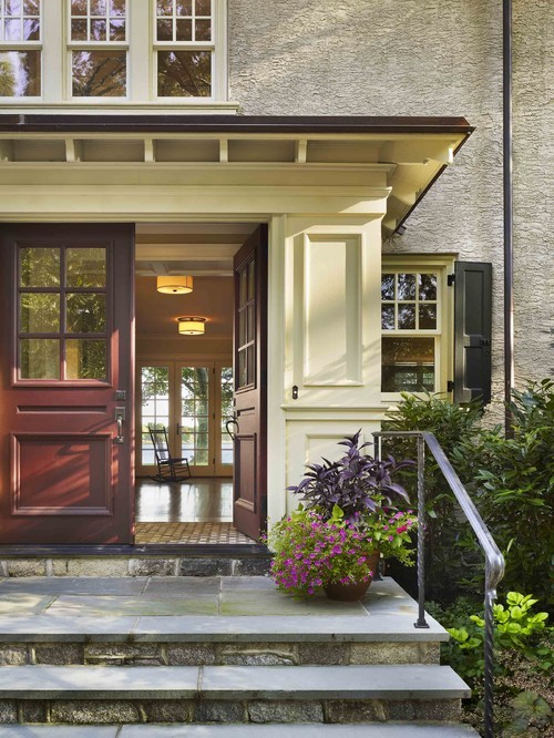 georgianadesign:  Renovation of a 1920s Arts & Crafts residence on the Delaware River. Kass & Associates.