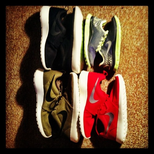 Nike Roshe, party of 3 + 1. (Taken with Instagram at NIKE Employee Store)