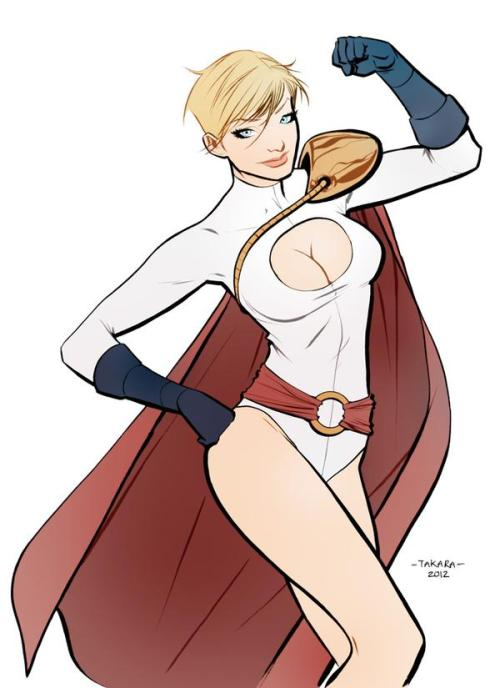 kulturbreakdown:  Powergirl by Marcio Takara