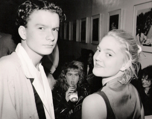 Balthazar Getty and Drew Barrymore at a private party for photographer Greg Gorman.