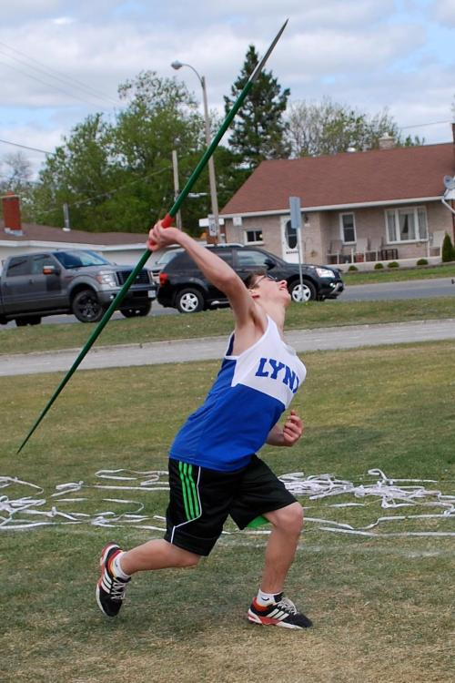 Pre-NSSSA in Espanola, 3rd place in javelin throw out of 15 people.