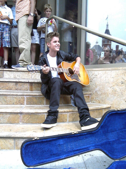 Justin on the steps of the Avon Theatre!